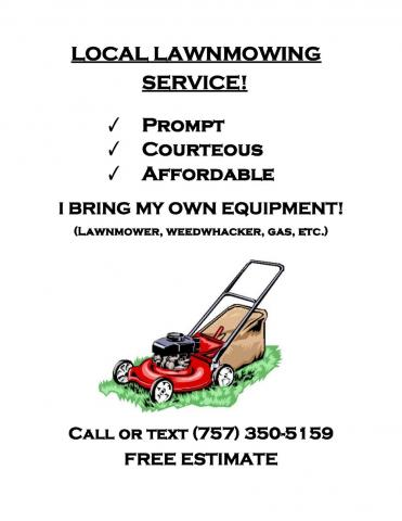 Harrison Smith Lawn Mowing Flyer