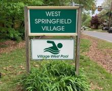 Village and Pool Signs